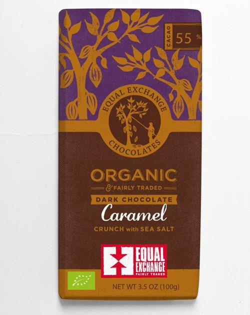 Organic Dark Chocolate with Caramel
